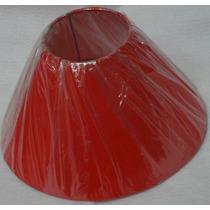 Cúpula P/ Abajur - Luminária Pedestal Ou Cabeceira Vermelho