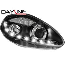 Tuning Imports Par D Farol Projector Drl R8 Fiat Punto 07/12