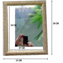 Moldura Com Espelho - Ornato Rústico - 39x31 Cm - 50% Off!!!