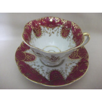 B. Antigo - Suntuosa Xícara Café Porcelana Vista Alegre 1909