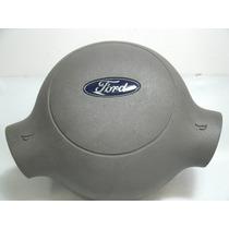 Botao Buzina Miolo Volante Ford Ka Cinza Claro Original 1