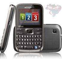 Celular Motorola Motokey Ex117 Tri-chip 3 Chip-fm-mp3-cam2.0
