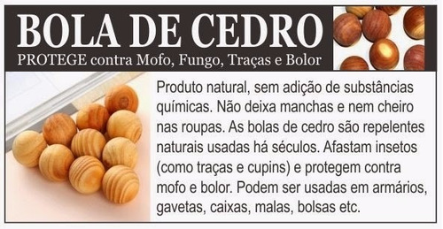 Bolas De Cedro 3 Pcts Anti Mofo Bolor   Traças Natural. Preço  R  99 4 Veja  MercadoLibre 4621b7081e29f