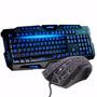 Kit Gamer Led Teclado + Mouse Neon 3000dpi Usb Mouse Luzes