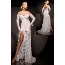 Vestido Noiva Espanhola Renda Super Fenda Sob Medida
