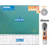 Kit Base De Corte 60 +régua 60 +cortador Patchwork,scrapbook