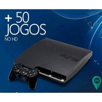 Playstation 3 500gb Super Slim + 50 Jogos No Hd