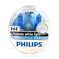 Par Lâmpada Philips Diamond Vision H4 Original