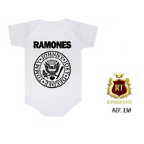 Body Infantil Bodies Personalizados Divertidos Rock Bandas