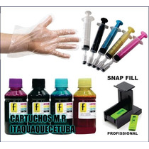 2000ml Kit Tinta Recarga Cartucho Hp 122/662/901/74/75/60/xl