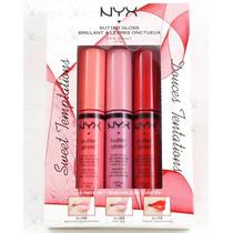 Nyx Kit Com 3 Butter Gloss Edição Limitada!!blgset02