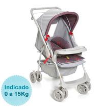 Carrinho De Bebê - - Milano Reversível - Cinza E Vermelh