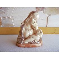 Estátua/ Busto N. Sra. Com Menino Jesus Faiança Tasca Déc.60
