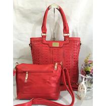 Bolsa Feminina Kit Com 2 Grande E Pequena Pronta Entrega 776