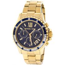Relógio Michael Kors Mk5754 Dourado Azul Lindo Frete Grátis.