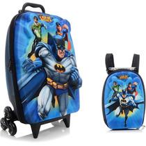 Mochila Escolar Mochilete 3d Liga Da Justiça Batman + Lanche