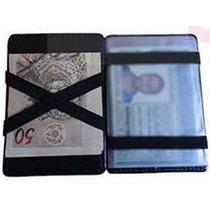 Carteira Mágica Porta Dinheiro Cartões Em Couro