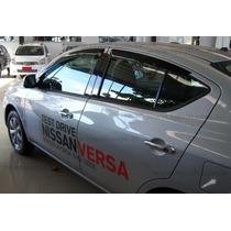 Nissan Versa Calha De Chuva / Defletor Orig. Tg Pol