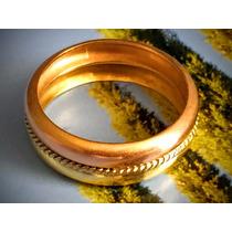 Anel Em Ouro Rosê, Branco E Amarelo 18k-750