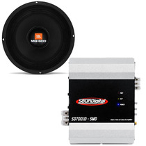 2 Woofer 8 Pol 8mg600 300 Watts Jbl + Modulo Amplificador