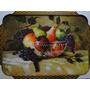 Quadro Moldura  Fores  &  Frutas Pera Maçã