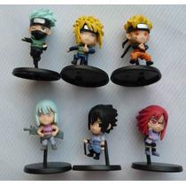 Kit Bonecos 6 Naruto Anime Mini Figure Karin Suigetsu Manga