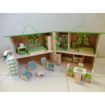 Casinha De Boneca Madeira Polly Cor Verde Pedagógica