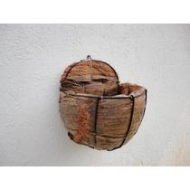 Vaso Fibra De Coco Parede Para Jardim E Paisagismo