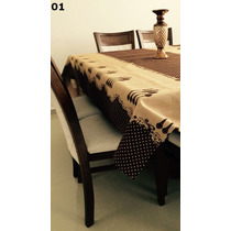 Toalha De Mesa Gourmet 140x220+grátis 2 Capas De Travesseiro