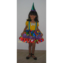 Fantasia Infantil Palhacinha - Tema De Festa Circo - Luxo