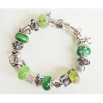 Pulseira (398) Pandora Berloques E Muranos Verdes Animais