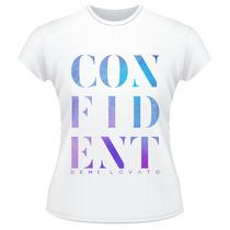 Baby Look Demi Lovato Confident Camiseta Feminina