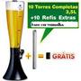 10 Und. Torre 3,5 Litros + 10 Refil Adicional Chopp/cerveja