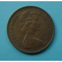 30 - Inglaterra 2 New Pence 1979, 26mm Elizabeth - Bronze