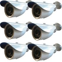 Kit 6 Câmeras Canhão Infra Ip 1.3mp Hd 720 Onvif (intelbras)