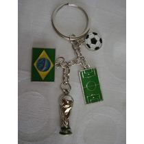 Chaveiro Brasil Taça Copa Do Mundo 2014 Frete Gratis