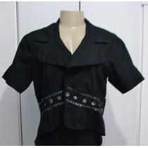 Camisa Feminina Tipo Bolero Tam.m S/strech S14