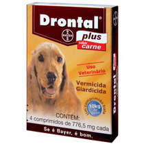 Drontal Plus Sabor Carne 4 Comprimidos Bayer