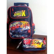 Kit Mochila G Estojo Carros 2 Disney Frete Grátis