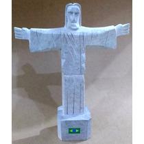 Cristo Redentor Pedra Sabão 25cm Souvenir Artesanal Brasil
