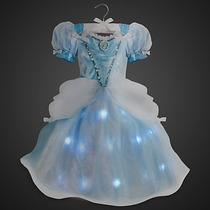 Fantasia Vestido Cinderela C/ Luzes Original - 12x S/ Juros
