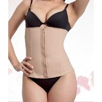 Cinta Modeladora Feminina Emborracha E Cotton Com Ziper 419