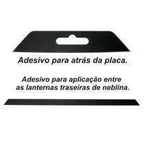 Adesivo Vw Fox Placa Parachoque 2010 11 2012 2013 2014 Novo