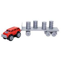 Caminhão Mini Max Tow Reboque Dtc 3678 Vermelho Frete Grátis