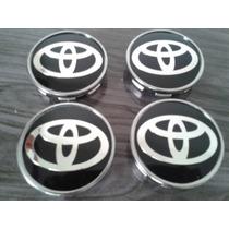 Kit Calotinha Centro Da Roda Toyota Em Auto Relevo 51mm