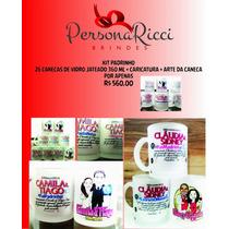 Kit Com 26 Canecas Personalizadas Para Casamento Eventos