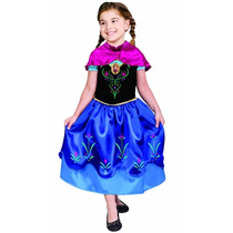 Fantasia Frozen Anna De Luxo Original Princesa Da Disney