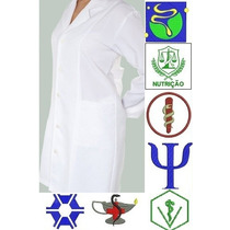 Jaleco Feminino Personalizado - Logomarca Bordado Gratís