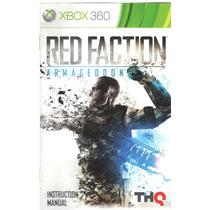 Manual De Instrucoes Jogo Red Faction Armageddon/xbox360
