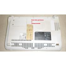 Carcaça Inferior Netbook Acer Aspire One Zg5 Branca Usada